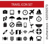 travel icon vector set of... | Shutterstock .eps vector #420550573