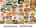 collage picture of food menu... | Shutterstock . vector #420555166