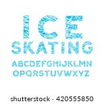 blue winter font. alphabet with ... | Shutterstock .eps vector #420555850