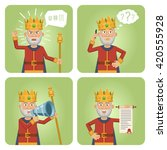 set of old king characters... | Shutterstock .eps vector #420555928