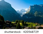 swiss mountains   bernese alps  ... | Shutterstock . vector #420568729