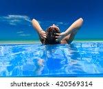 split underwater of a young...   Shutterstock . vector #420569314