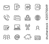 contact icon set.line vector. | Shutterstock .eps vector #420570049