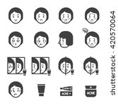acne icon set | Shutterstock .eps vector #420570064
