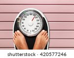 Stock photo weight scale 420577246