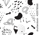 simple seamless doodle pattern... | Shutterstock .eps vector #420578068