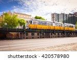 budapest tram | Shutterstock . vector #420578980