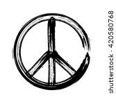 peace symbol icon vector... | Shutterstock .eps vector #420580768