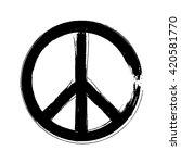 peace symbol icon vector...   Shutterstock .eps vector #420581770