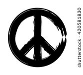 peace symbol icon vector... | Shutterstock .eps vector #420581830