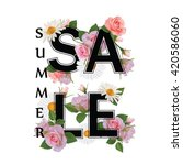 summer sale background with... | Shutterstock .eps vector #420586060