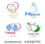 wellness symbols. healthy food... | Shutterstock .eps vector #420586750