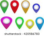 map markers on a white... | Shutterstock .eps vector #420586783