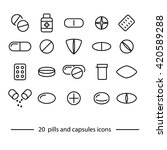 pills and capsules icons | Shutterstock .eps vector #420589288