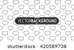 seamless pattern of text frames ... | Shutterstock .eps vector #420589738