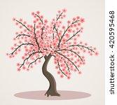 Tree Blooms Pink Flowers