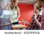 unposed group of creative...   Shutterstock . vector #420595918
