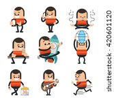 set of human character poses ... | Shutterstock .eps vector #420601120
