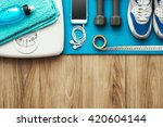 training and sports equipment... | Shutterstock . vector #420604144