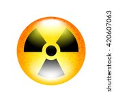 radioactive symbol isolated on... | Shutterstock .eps vector #420607063