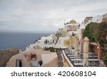 oia view on a cloudy day | Shutterstock . vector #420608104
