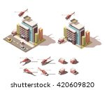 vector isometric icon or... | Shutterstock .eps vector #420609820