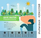 save water.infographics.vector... | Shutterstock .eps vector #420612268