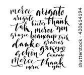 collection of hand drawn thank... | Shutterstock .eps vector #420614194