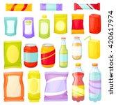 snacks packing set  packet  bag ... | Shutterstock .eps vector #420617974