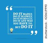 inspirational motivational... | Shutterstock .eps vector #420619990