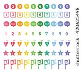 colorful numbers  hand drawn... | Shutterstock .eps vector #420625498