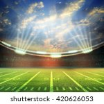 emptry stadium evening | Shutterstock . vector #420626053