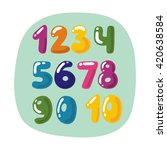 colorful children numbers | Shutterstock .eps vector #420638584