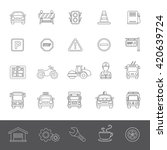 line icons   traffic | Shutterstock .eps vector #420639724