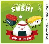vintage sushi poster design... | Shutterstock .eps vector #420646900