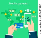 online and mobile payments... | Shutterstock .eps vector #420647980