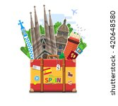 concept of travel to spain or... | Shutterstock .eps vector #420648580