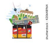 concept of travel to germany or ... | Shutterstock .eps vector #420648964