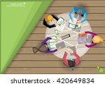vector businessman... | Shutterstock .eps vector #420649834