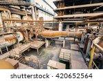 industrial pipeline equipment... | Shutterstock . vector #420652564