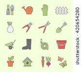 garden tools icon | Shutterstock .eps vector #420654280
