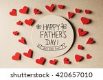 happy fathers day message with... | Shutterstock . vector #420657010