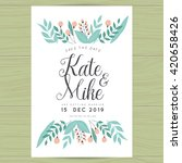 save the date  wedding... | Shutterstock .eps vector #420658426