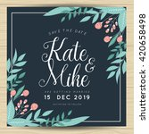 save the date  wedding... | Shutterstock .eps vector #420658498