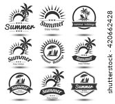 summer holidays design elements ... | Shutterstock .eps vector #420662428