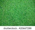 artificial grass texture on... | Shutterstock . vector #420667288