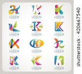 logo letter k element and... | Shutterstock .eps vector #420667540