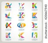 logo letter k element and... | Shutterstock .eps vector #420667540