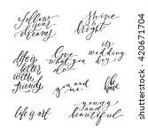 huge hand drawn lettering set.... | Shutterstock .eps vector #420671704