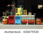 vintage furniture and other... | Shutterstock . vector #420675520